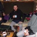 večer setkání ve srubu s kamarádem Standou a jeho přítelkyní Míšou...